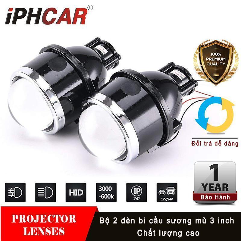 Bộ 2 đèn Bi-xenon Gầm 3 inch IPH cao cấp- có pha/cốt (7.8cm) (BH 1 năm)