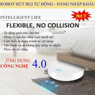 Robot Hút Bụi Lau Nhà Thông Minh Tự Động Phát Hiện Các Đồ Nội Thất, Dễ Dàng Làm Sạch Các Vị Trí Khó Như Gầm Giường, Tủ, Gầm Ghế Sofa. Bảo Hành 3 tháng + 1 móc silicon thumbnail