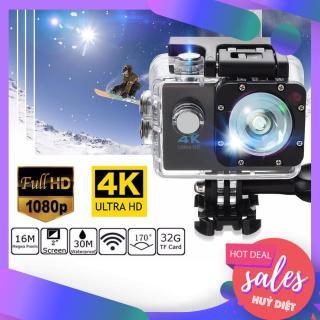 Camera Hành Trình Hỗ Trợ Wifi 4K Ultra HD Chống Nước Full Phụ Kiện, Camera hành trình 4K, Camera 4K Ultra HD hành trình xe máy Camera phượt thể thao, HỐNG NƯỚC, Chống Rung Lấy Nét Tự Động,Bảo Hành 1 năm thumbnail
