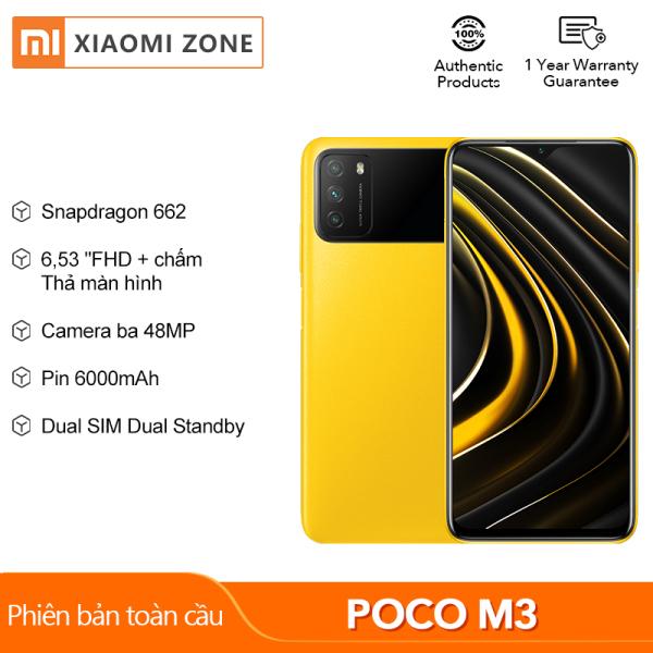 [Hàng mới về] Phiên bản toàn cầu Xiaomi POCO M3 chính hãng (4GB + 64GB / 4GB + 128GB) Màn hình điện thoại thông minh Snapdragon 662 6.53 Pin 6000mAh Máy ảnh 48MP Điện thoại di động POCO X3