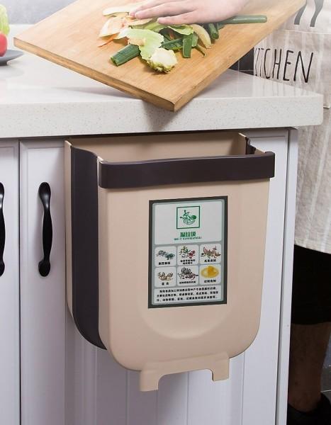 Thùng rác gấp gọn thông minh treo tủ tiện lợi nội thất sắp xếp nhà bếp