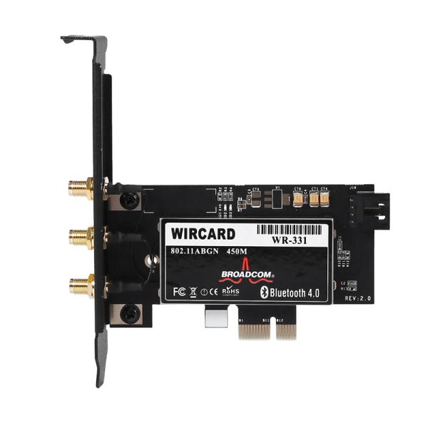 Bảng giá WIRCARD CM94331Csax 802.11N WiFi+Bluetooth 4.0 PC Desktop WLAN Card Pci-E 1X-16X Adapter for Broadcom Mac OS & 6DB Dual Band Antenna Phong Vũ