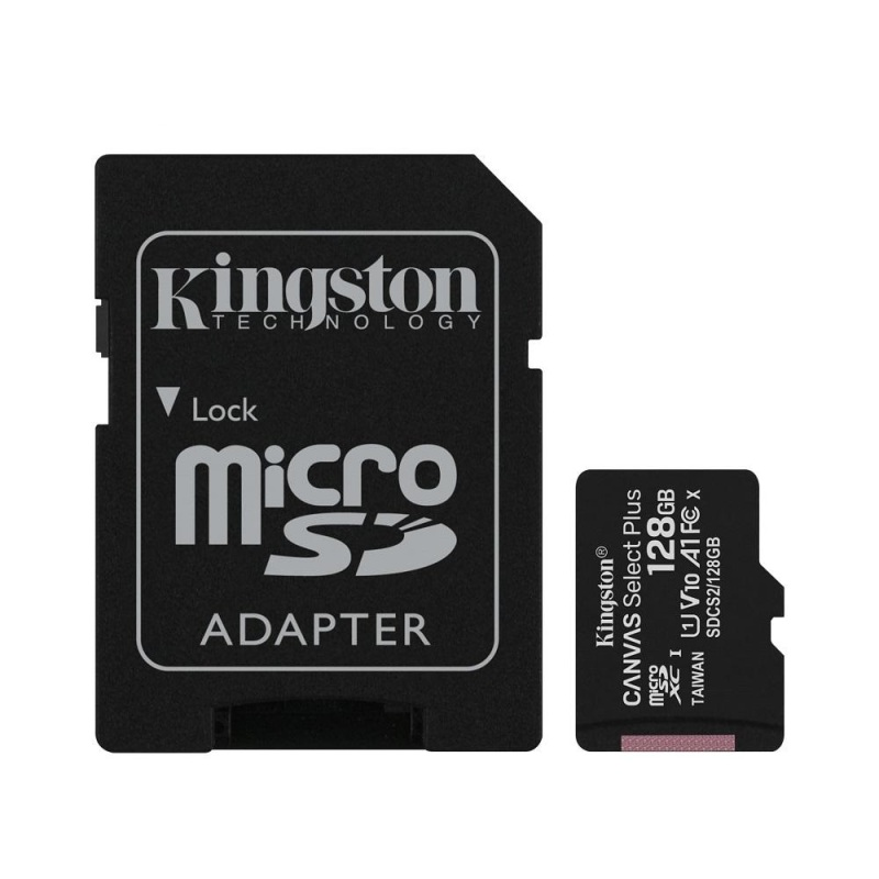 Thẻ nhớ microSDXC Kingston Canvas Select Plus 128GB U1 V10 A1 100MB/s - Kèm Adapter (Đen) - Phụ Kiện 1986