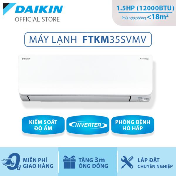 Bảng giá Máy Lạnh Daikin Inverter FTKM35SVMV - 1.5HP (12000 BTU) Cân bằng độ ẩm - Luồng gió Coanda - Tiết kiệm điện tối ưu - Mắt thần thông minh - Tinh lọc không khí - Độ bền cao - Hoạt động êm - Hàng chính hãng