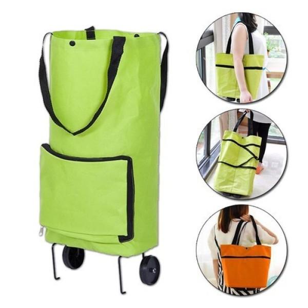 Túi xách gắn bánh xe kéo, túi đi chợ có bánh xe, túi có bánh xe kéo dùng đi chợ, siêu thị - xe kéo dạng túi có bánh xe kéo