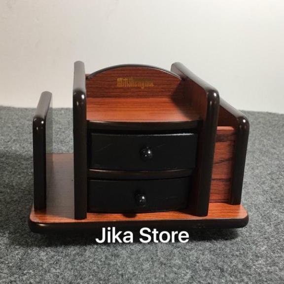 Mua Hộp đựng bút gỗ để bàn có đế xoay 360 độ Jika Store 8013