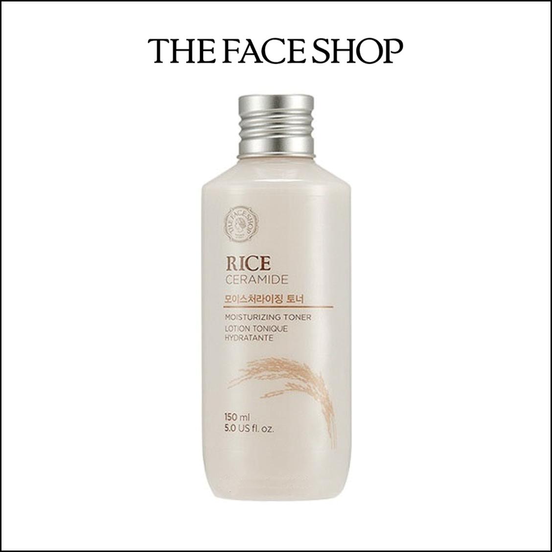 NƯỚC HOA HỒNG GẠO THE FACE SHOP RICE CERAMIDE MOISTURE TONER (MẪU MỚI)