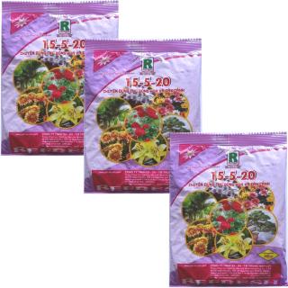 Bộ 3 gói Phân bón NPK 15-5-20 cao cấp chuyên dùng cho hoa, cây cảnh 200gr gói thumbnail