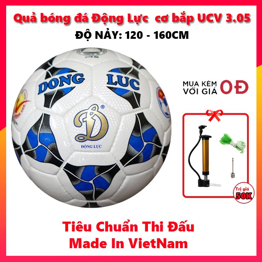 Quả bóng đá Động Lực Cơ bắp UCV 3.05 số 5 (Tiêu chuẩn thi đấu, tặng bơm, kim bơm và lưới đựng bóng).