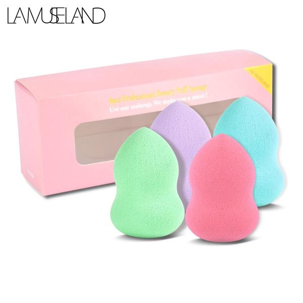 LAMUSELAND 4Pcs Beauty Foundation Soft Sponge Powder Cosmetic Puff Tool giá rẻ