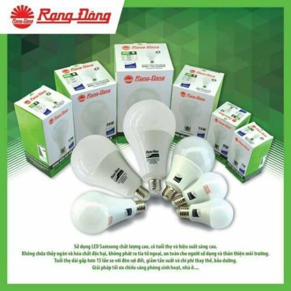 Bóng đèn LED Rạng Đông  3W 5W 7W 9W 12W ánh sáng trắng vàng Bảo hành chính hãng 1 năm