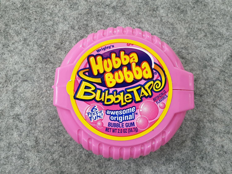 [Hot] Kẹo Singum ( cao su ) cuộn siêu dài Hubba Bubba Bubble tape dài 180cm hương vị truyền thống ( Mẫu mới - Nội địa USA - Xách tay Mỹ )