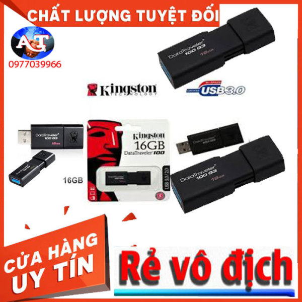 Giá USB Kingston DataTraveler 100 G3 16GB VÀ 32G USB 3.0