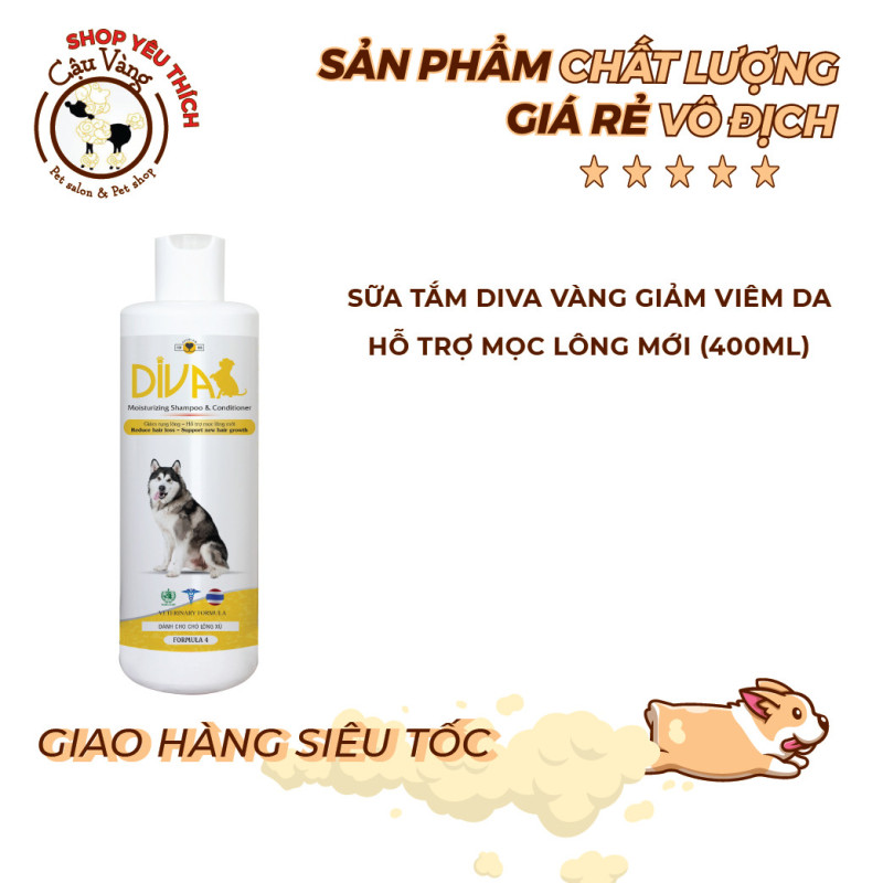 Sữa tắm DIVA giảm rụng lông cho chó mèo 400ml