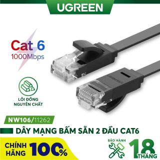 Cáp mạng 2 đầu đúc Cat7 UTP Patch Cords dạng dẹt - dài 3M - UGREEN NW106 - 11262 - Hãng phân phối chính thức thumbnail