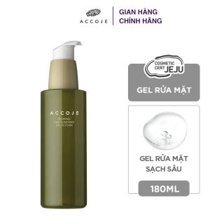 Gel rửa mặt sạch sâu Accoje Reviving Dust Cleansing Gel to Foam 180ml thumbnail
