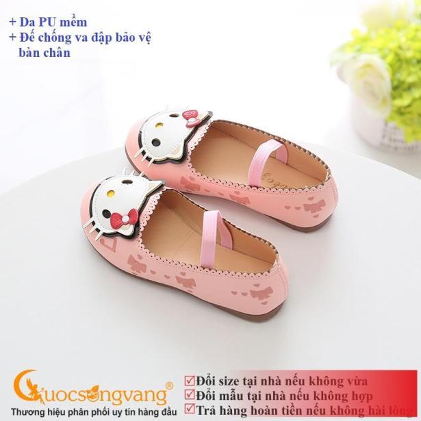 Giày dép bé gái giày bé gái búp bê đế kếp GLG006 hình mèo giá rẻ