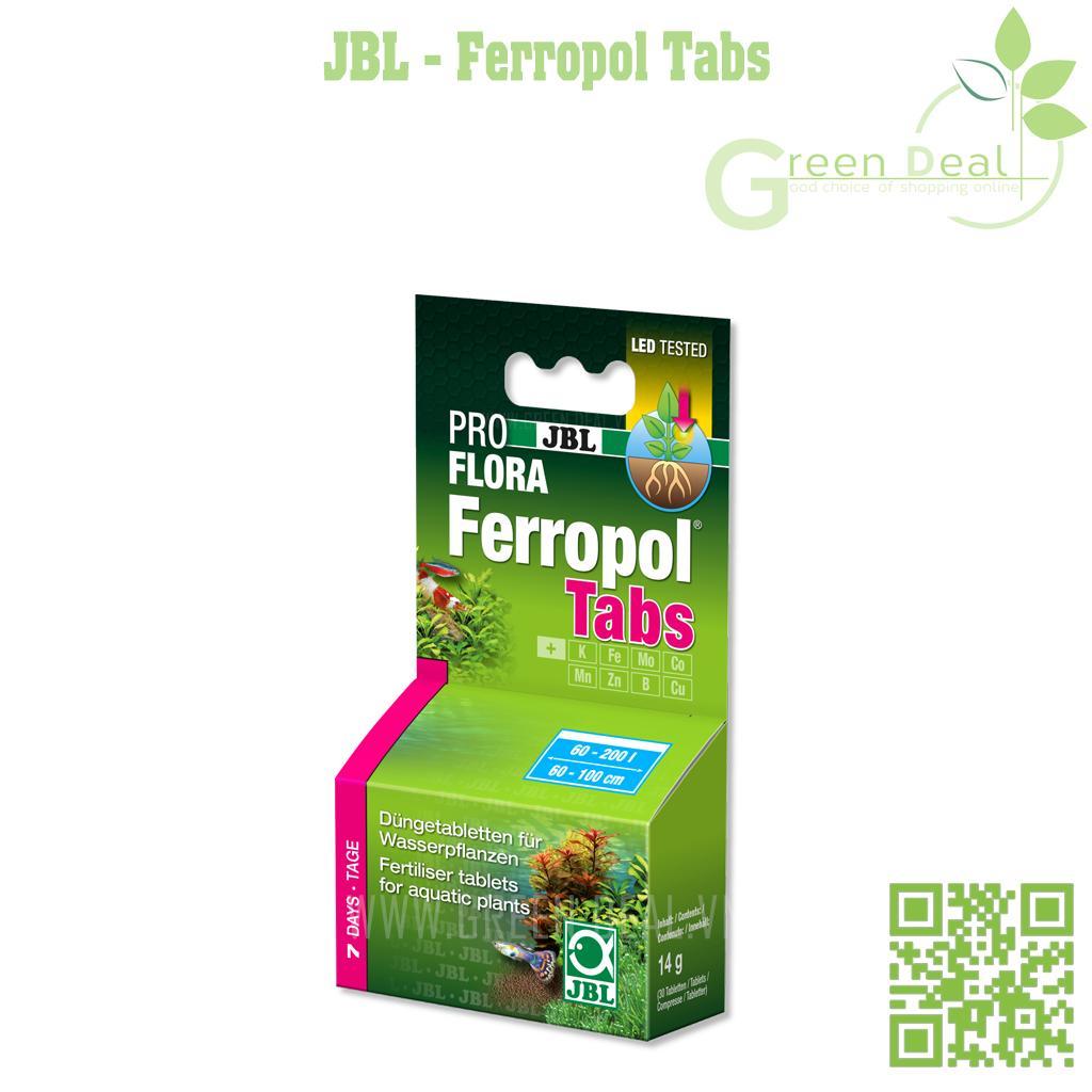 JBL - Ferropol Tabs (Hộp 30 viên ) - Phân nhét cao cấp cho hồ thuỷ sinh
