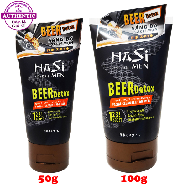 Sữa Rửa Mặt Kiểm Soát Nhờn Và Ngăn Ngừa Mụn Cho Nam HASI Beer Detox