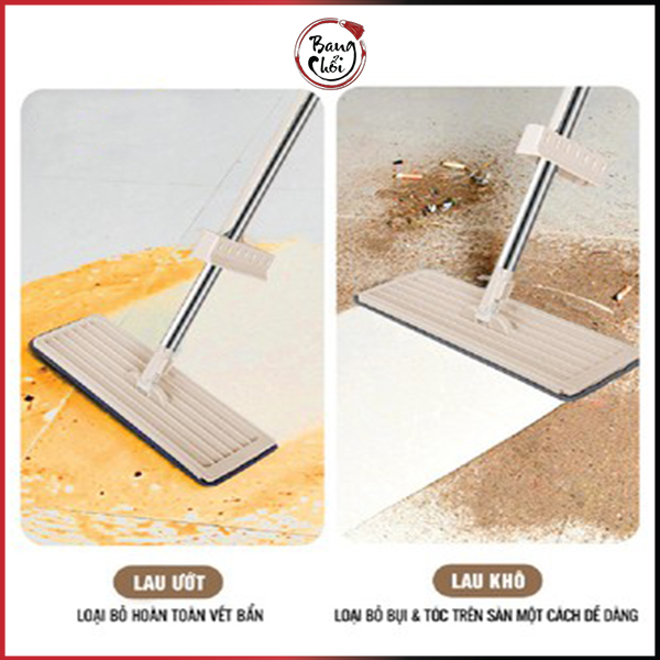 Chổi lau nhà tự vắt thông minh PULITO vệ sinh nhà cửa với đầu xoay 360 độ tiện dụng Tặng thêm 1 bông lau LS-CLN-M1
