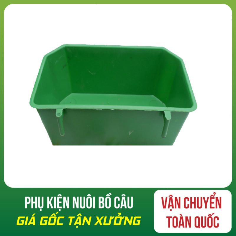 Combo 30 Máng Ăn Xanh - Máng Ăn - Uống Cho Chim - Máng Ăn Xanh - Khay Ăn Uông Cho Chim