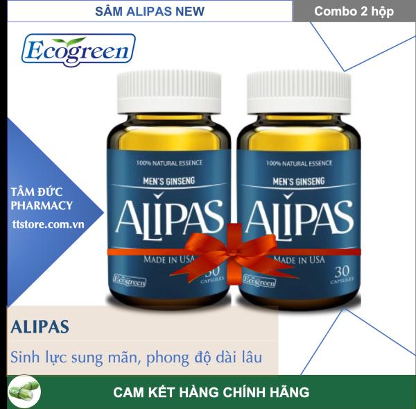 Combo 2 hộp Sâm ALIPAS New [Hộp 30 viên] - Hàu biển, sinh lý nam, sung mãnh