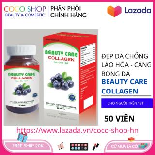 Viên uống đẹp da Beauty Care Collagen giúp da tắng hồng giảm nám tàn nhang hộp 50 viên HSD 2023 thumbnail