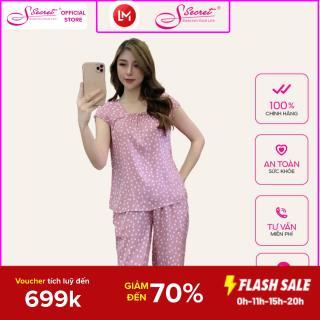 Bộ đồ ngủ mặc nhà mã SXH2136 Sweeten your life-S secret với 4 màu chất Rayon cao cấp thumbnail