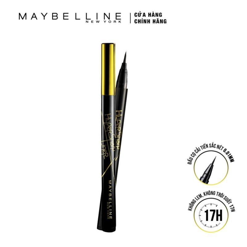 Bút Kẻ Mắt Nước Sắc Mảnh Maybelline New York Hyper Sharp Liner Đen 0.5g