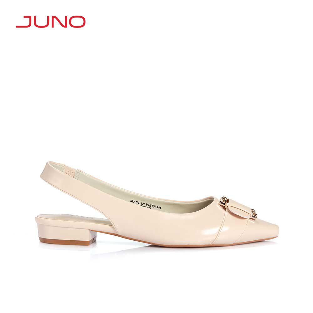 Giày búp bê mũi nhọn phối khoá Juno BB01128
