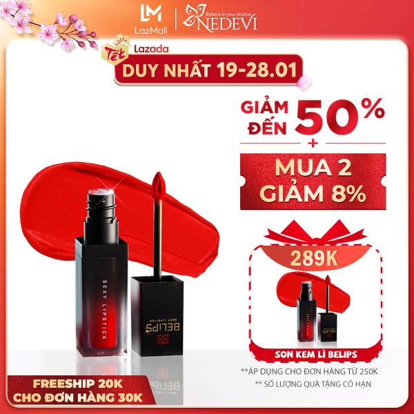 Son Kem Lì Mỏng Nhẹ Mềm Môi Belips Sexy Lipstick 100% thiên nhiên không chì, an toàn cho cả mẹ bầu giá rẻ