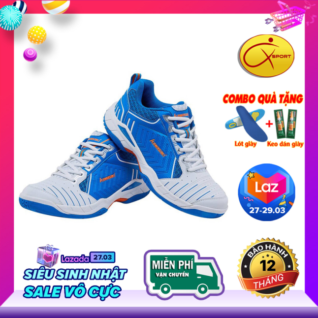 [Q-Sport] Giày cầu lông Kawasaki K162 đế kếp, chống trơn, chống trượt, ôm chân, bền bỉ- Giày cầu lông nam nữ- Giày bóng chuyền nam nữ- giày thể thao nam nữ giá rẻ