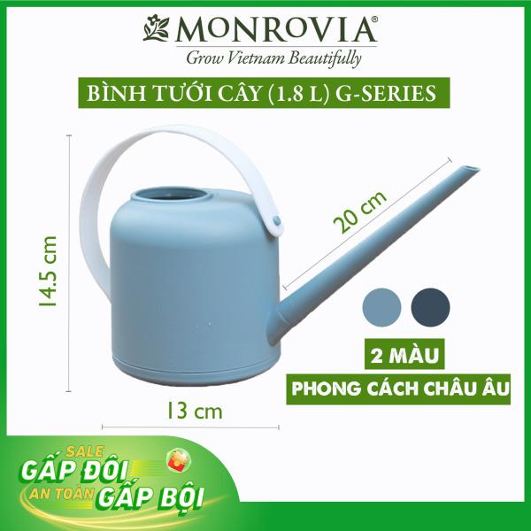 Bình tưới cây vòi dài MONROVIA 1.8 lít, tháo lắp dễ dàng, tiện lợi, tưới cây cảnh ban công, sân vườn, thiết kế Châu Âu