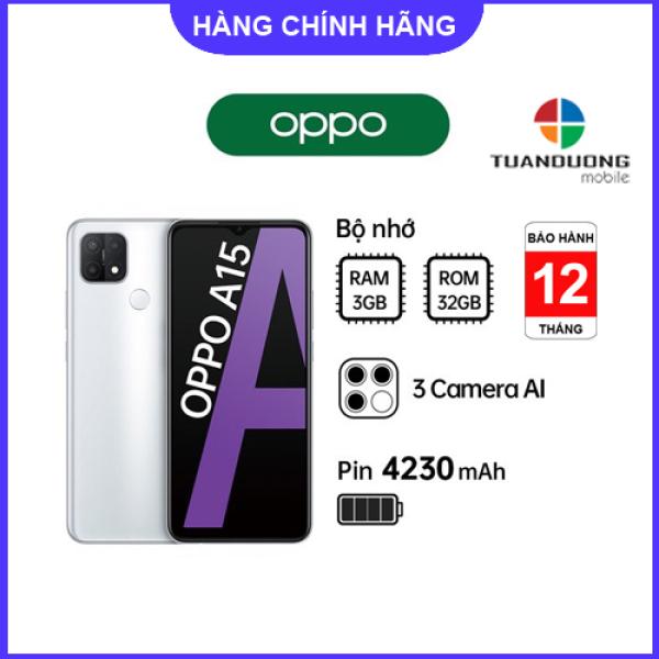 Điện thoại OPPO A15 3GB/32GB - Hàng Mới Nguyên Hộp - Bảo Hành Chính Hãng