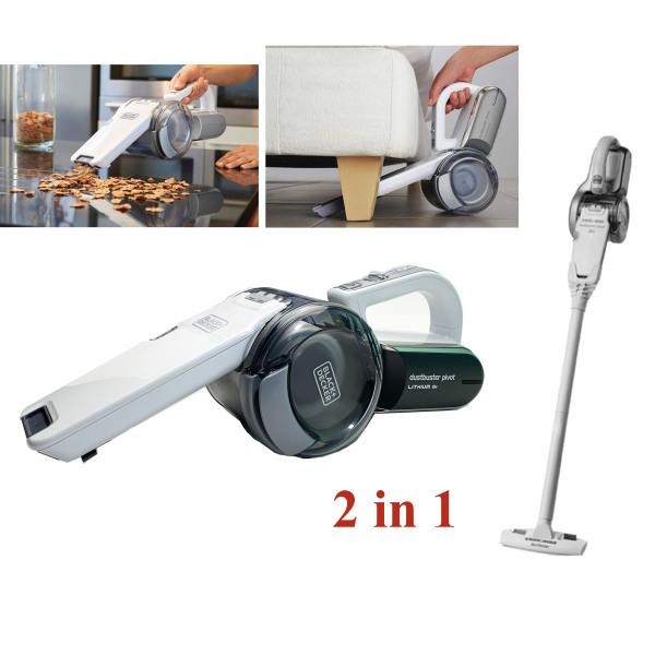 Máy hút bụi mini (có ống nối), sử dụng trong gia đình, vệ sinh ô tô - Máy hút bụi dùng pin 18V Black + Decker PV1820LF
