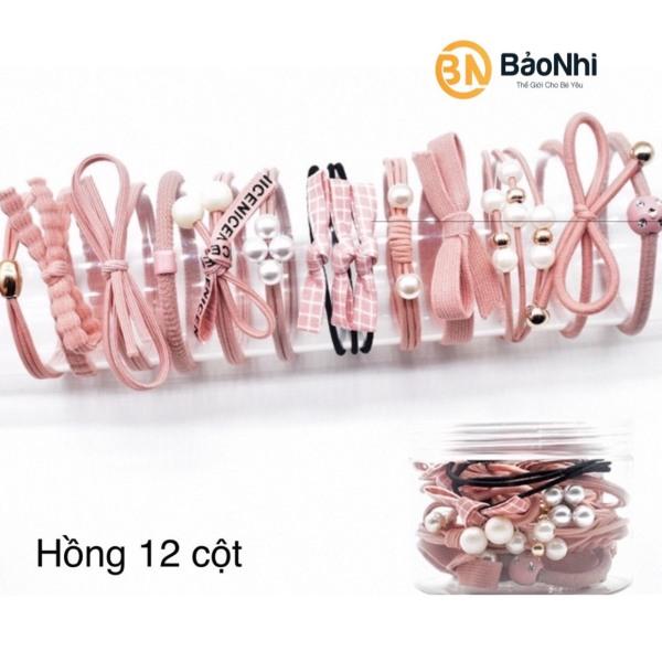 Bộ hộp set 12 dây chun buộc tóc phong cách Hàn Quốc BT12