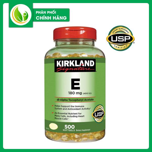 Viên Uống Vitamin E Mỹ Kirkland 500 Viên - Dưỡng Da Trắng Sáng Chống Lão Hóa Vượt Trội..... giá rẻ