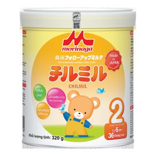 Sữa bột Morinaga CTY số 2 Chimil- 320g (6-36 tháng) (mẫu mới) thumbnail