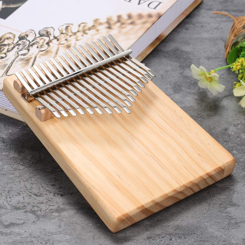 17 Keys Mbira Pocket Musical Instrument Finger Piano Kalimba Portable Thumb Piano Is Gift for Your Friends and Family