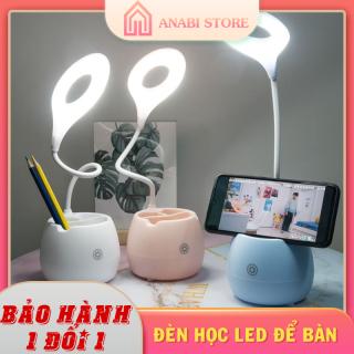 Đèn Led Học Để Bàn, Chống Cận, Cảm Ứng Anabi Store - Đèn Led Cảm Ứng ,Có Chỗ Đựng Bút, Giá Để Điện Thoại thumbnail
