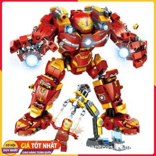 Lắp ráp xếp hình Lego siêu anh hùng Iron man 2018 Bộ giáp người sắt Hulbuster chống lại THanos endgame 568+ mảnh (ảnh thật) thumbnail