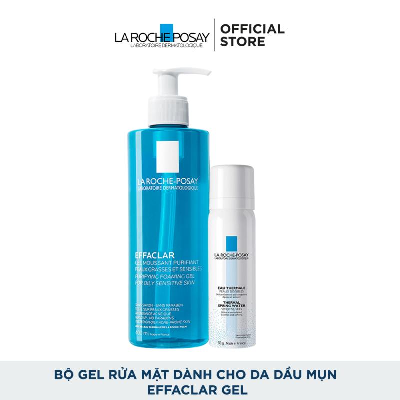 Bộ gel rửa mặt làm sạch và bảo vệ da dầu nhạy cảm La Roche-Posay Effaclar Purifying Foaming Gel 400ml