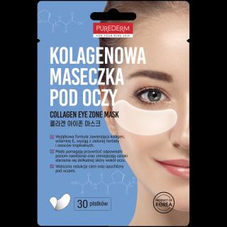 Mặt nạ dưỡng mắt Purederm Collagen Eye Zone Mask 30 Sheet - Cung cấp collagen chống nhăn, thâm và giảm bọng vùng mắt thumbnail