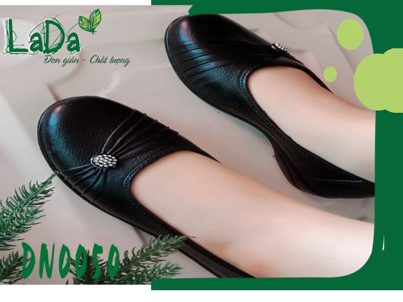 Giày Búp Bê Đế Nhựa Đính Đá Kiểu Dáng Đơn Giản [Dn0050] giá rẻ
