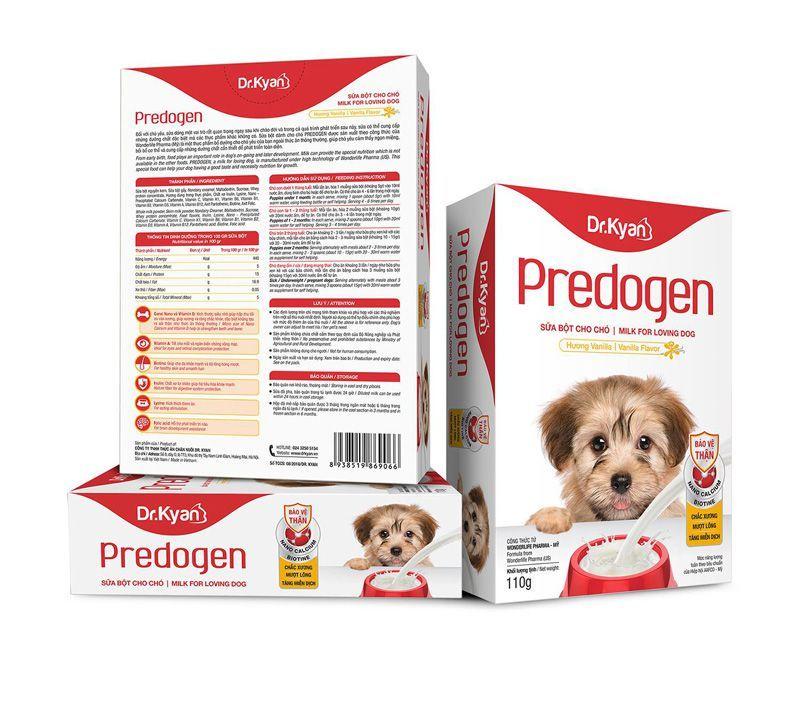 Dr.Kyan Predogen - Sữa bột cho chó 110gr (hộp giấy)