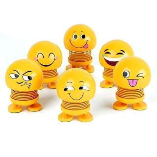 [Combo 6 Ông Trọc Cười] Lật Đật Icon Emoji Lò Xo Nhún Đồ Chơi Xả Stress - Lật Đật Icon Lò Xo Để Xe Ô Tô Vui Nhộn - Cục Xì Ngầu Là Ông Bê Lắc - Ông Bê Lắc thumbnail