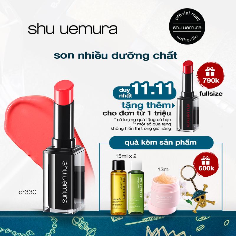 son môi nhiều dưỡng chất shu uemura rouge unlimited central lipstick 3g