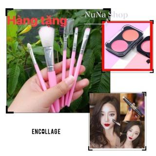 NuNa -[Tặng bộ cọ nhỏ 5 cây] Combo bút tạo khối 2 đầu và phấn má hồng 2 màu Lameila thumbnail