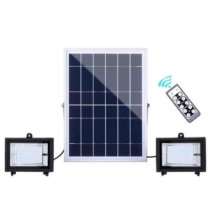 Đèn led năng lượng mặt trời sân vườn điều khiển từ xa SL-383