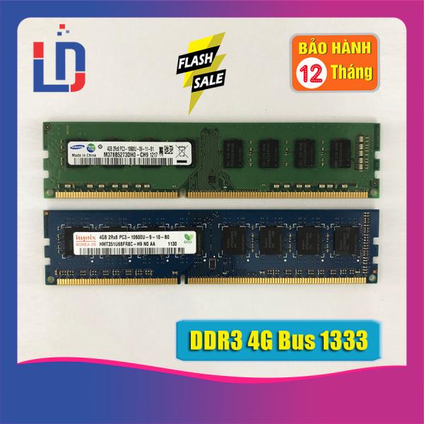 Giá Ram máy tính để bàn 8GB 4GB 2GB DDR3 bus 1333 PC3 10600 (Hãn ngẫu nhiên) Kingston samsung hynix SSD ...